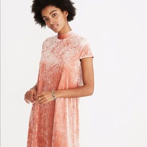 NWT crushed velvet mock neck dress from Madewell